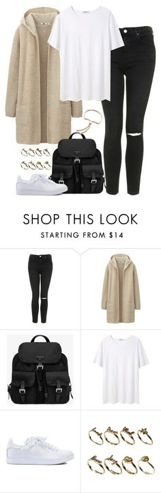 """Untitled #3735"" by eleanorsclosettt ❤ liked on Polyvore featuring Topshop, Uniqlo, Prada, T By Alexander Wang, Jeffrey Campbell, ASOS, Monica Vinader, women's clothing, women's fashion and women"