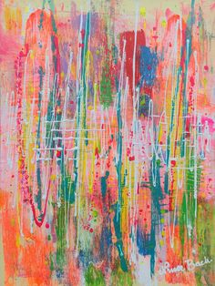 """""""WILDFLOWERS (abstract expressionism)"""" by Nina Bach. Paintings for Sale. Bluethumb - Online Art Gallery"""