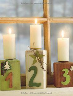 Weihnachtliche Holzpfosten: Liebevolle Figuren für Winter & Weihnachten kreativ.kompakt.: Amazon.de: Alice Rögele: Bücher