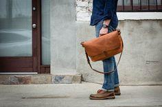 men messenger bag #leather #bag #streetstyle