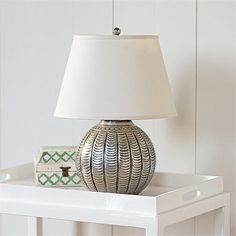 Contemporary Table Lamp from Serena & Lily, Model: Scallop