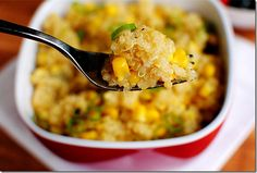 Honey Lemon corn Quinoa....cut out the butter to clean up and sounds amazing! maybe grill corn in the summer!