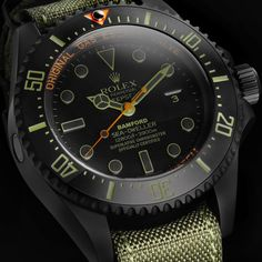 Bamford Watch Department – Black Rolex MGTC – Rolex 'Truehunter' Deepsea [NATO]