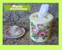 ** Maria Reciclona **: Reciclando latas: um porta rolo de papel por perto pode ser muito útil.
