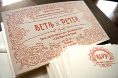 Love this website....so pretty golden rectangle press, vintage postcard wedding invitation