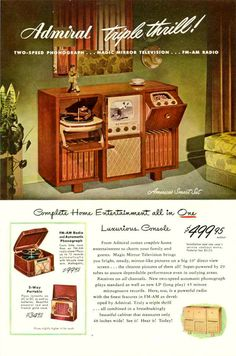My grandparents had one of these in their basement; my brother and I played vintage 50s vinyl on it