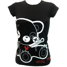 Newbreed Girl Evil Friend T-Shirt   Gothic Clothing   Emo clothing  ... ❤ liked on Polyvore