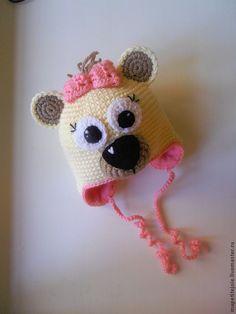 """Одежда для девочек, ручной работы. Ярмарка Мастеров - ручная работа шапочка детская """"мишка малышка"""". Handmade."""
