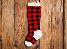 "The pattern includes 3 pages of detailed instructions on how to knit this stocking. It also includes a cover page with photo, and a two color Buffalo Plaid graphs. You can even change the colors if you'd like. It is completely up to you. I'm sure you will have fun ""sweetly"" knitting this fun ""Buffalo Plaid"" stocking."