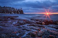 """""""Daybreak at Split Rock Lighthouse""""<br /> The transition from twilight to sunrise can be dramatic and rich with color and texture. While Mother Nature painted the stunning canvas, the gentle waves of Lake Superior provided the perfect accompaniment. We found great inspiration in our experience at Split Rock Lighthouse, and it was the perfect beginning to our North Shore adventure.<br /> <br /> We are reminded to remain present, because these moments are fleeting; conditions change quickly…"""
