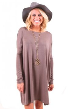 Endless Possibilities Tunic Dress in Mocha