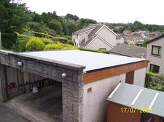 1000 images about garage on pinterest flat roof tudor for Flat roof garage with deck plans