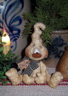 "Primitive Halloween Ghost Spook 5"" Doll Pattern"
