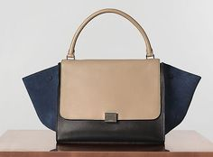 This Céline Tri-Color Trapeze Bag is like a work of art!