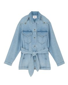 I'm Sure This New Jacket Style Is Going to Be Checked Blazer Denim Belt, Oversized Denim Jacket, Checked Blazer, Jacket Style, Who What Wear, Jackets For Women, How To Wear, Fashion Trends, Outfits