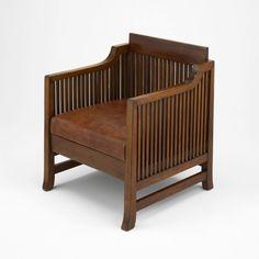 Frank Lloyd Wright  American, 1867–1959  Spindle Cube Chair, 1902/06
