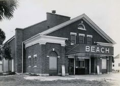 Photo of the Beach Theatre from 1946. Today known as the Tybee Post Theater, it was built in 1930 as entertainment for soldiers and showed movies until 1962. The Friends of the Tybee Theater, Inc formed in 2001 and in 2006 they purchased the Tybee Post Theater from the Tybee Historical Society and have been working since that time to reopen the theater.