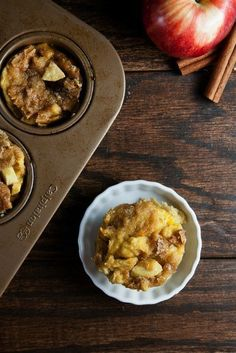 Muffin Tin Apple Cinnamon French Toast. Prep this breakfast dish the night before for a stress-free morning!