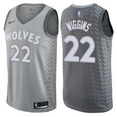 800fd7aec5f Men 22 Andrew Wiggins City Jersey Gray Minnesota Timberwolves Fanatics