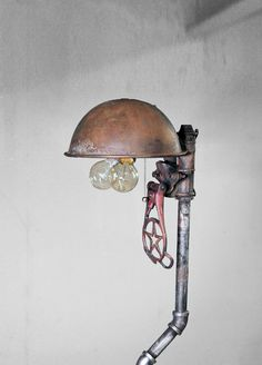 Industrial Pipe Floor Lamp by VintageLightCompany on Etsy, $235.00