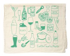 New Product: Themed Tea Towels! « Maptote