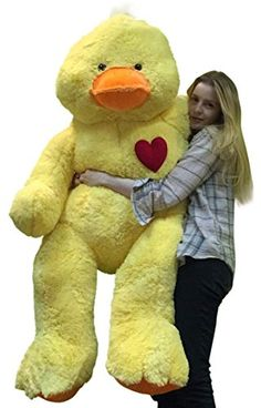 Giant Stuffed Duck 60 Inch Soft 5 Foot Plush Ducky Heart on Chest to Express Love ** Check out this great product.