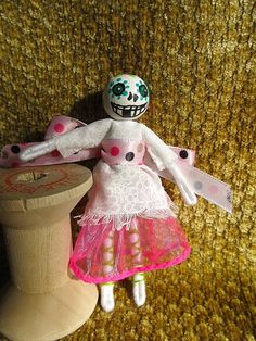 These are some of the dolls I make and sell on Etsy. Please stop by my shop!  https://www.etsy.com/shop/squashbottomcat?ref=hdr_shop_menu