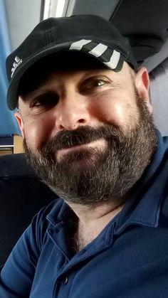 Hot Men, Sexy Men, Hot Guys, Cap Man, Sexy Beard, Full Beard, Great Smiles, Bald Men, Scantily Clad