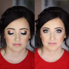 Bridal Makeup. Soft sultry pink and brown smokey eye. MAC Tan pigment used for the lid, brown shadows are from the Too Faced Chocolate Bar Palette.