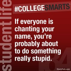"""This is not just college smarts. It should be called """"life smarts."""" Because let's be honest, adults do this too!!"""