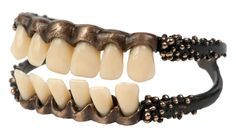 teeth set in a metal jaw - closure for something?