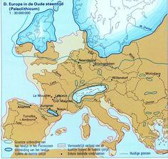Een kaart uit de tijd van de Jagers en Boeren