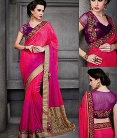 Buy Pink Bhagalpuri Jacquard Party Wear Saree 72419 with blouse online at lowest price from vast collection of sarees at Indianclothstore.com.