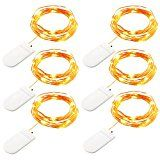 #9: GDEAELR 6 Pack Fairy String Lights 7.2ft 20LED Starry String Lights Battery Powered Copper Wire Lights Firefly Lights Leds LED Moon Lights for DIY Dinner Party Decoration Costume Making Warm White https://www.facebook.com/happyvoice927/shop?rt=16 https://youtu.be/3A2NV6jAuzc