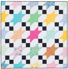 Stretched Stars quilt from Large-Block Quilts