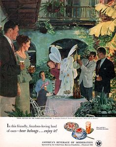 Mardi Gras Costume Douglass Crockwell Beer Belongs No 65 1952 Magazine Ad   eBay
