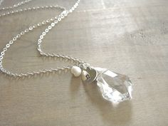 Personalized+Swarovski+Crystal+Necklace+with+Sterling+by+Beazuness,+$32.00