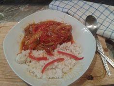 Gyors lecsós tarja rizzsel Recept képpel - Mindmegette.hu - Receptek