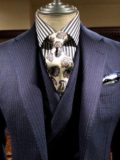 men suits 2017 -- Click visit link above to read Suit Fashion, Mens Fashion, Fashion Looks, British Style Men, Bespoke Suit, Bespoke Tailoring, Elegant Man, Suit Combinations, Suit And Tie
