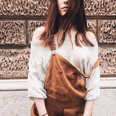 We love the total Mes Demoiselles outfit with the browny tones of this nice shot. Luigi cumin overall matches perfectly with our delicate Thilda top for a sophisticated look. —  https://mesdemoisellesparis.com/e-shop/en/jumpsuits/overall-luigi https://mesdemoisellesparis.com/e-shop/en/tops/top-hilda