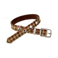 New Year's Resolution - Walk the dog more: Love My Dog Harris Tweed Plaid Collar