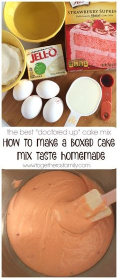 This is the best way to make a boxed cake mix taste homemade! Use a convenient & inexpensive boxed cake mix along with a Box Cake Recipes, Cupcake Recipes, Cupcake Cakes, Dessert Recipes, Cake Mix Cupcakes, Baking Cupcakes, Bundt Cakes, Cookie Recipes, The Cake Mix Doctor