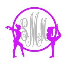 Gymnastics Monogram Vinyl Decal Gymnast by SouthernMissVinyl