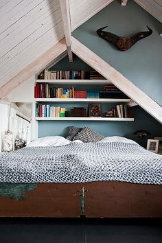 ...I think we could do something like this in our upstairs attic....poor Kevin when I see something!