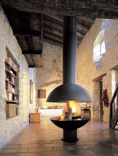 The Round Header Footer Fireplace