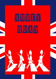 Abbey Road-LONDON (Londres)   #london #londres #horseguard beatles horse-guards life guard illustration