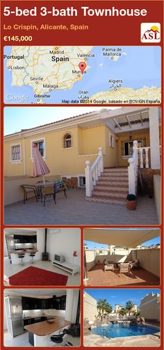 Townhouse for Sale in Lo Crispin, Alicante, Spain with 5 bedrooms, 3 bathrooms - A Spanish Life Permanent Residence, Alicante Spain, Underfloor Heating, Wood Burner, Family Bathroom, Double Bedroom, Malaga, Rooftop, Property For Sale