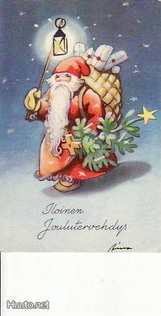 Martta Wendelin Vintage Christmas Cards, Retro Christmas, Christmas Greetings, Xmas, Christmas Ornaments, Children's Book Illustration, Dear Santa, Christmas Inspiration, Tis The Season