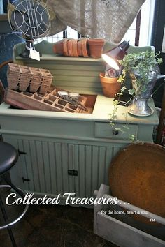 Collected Treasures for the home, heart, and soul: Antique Bead Board Dry Sink