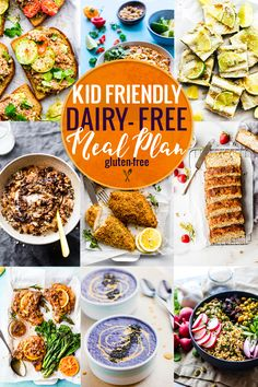 This kid friendly dairy-free meal plan is full of delicious back to school recipes that kids love! All of these kid friendly healthy recipes are gluten-free AND dairy-free, making life a little less stressful for parents of kids who have food allergies. Keto, Paleo, Pastas Recipes, Diet Recipes, Vegan Recipes, Diet Tips, Easy Recipes, Health Breakfast, Healthy Breakfast Recipes